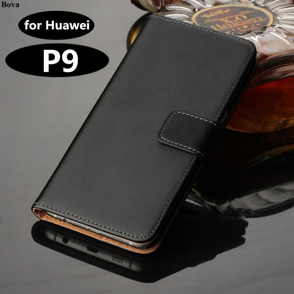 Väska till Huawei P9 täcka Premium PU-läderplånbok Väska Flip Väska till Huawei Ascend P9 med kortspalter och kassahållare GG