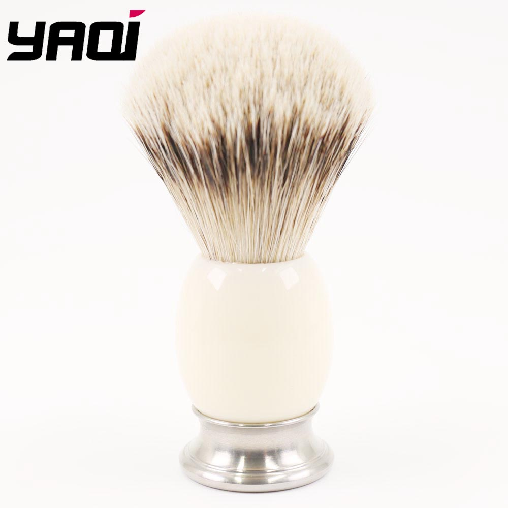Yaqi 21MM Metal And Acrylic Handle Silvertip Badger Shaving Brush