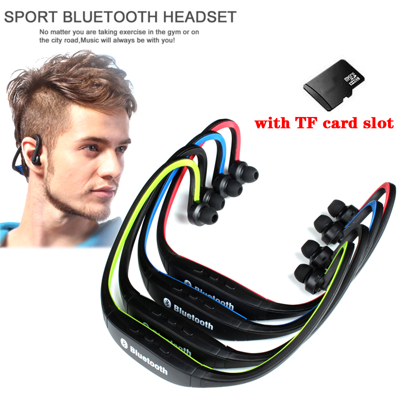 Ersuki Hot Menjual Olahraga Bluetooth Earphone S9 Plus FM Slot Kartu SD Bluetooth Headphone Mikrofon Untuk iphone Huawei XiaoMi Telepon