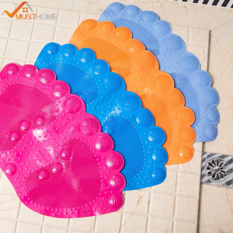 33x58cm 13 X23 Cartoon Foot Shape Non Slip Bath Mat Shower Mats Suitable For Bathrooms Toilets Bathtubs
