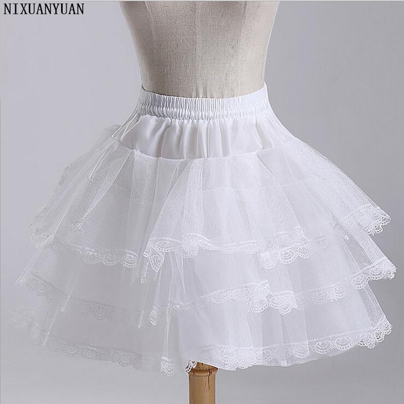 NIXUANYUAN Girls Underskirt Short Dress Petticoat Lolita Petticoat Ballet Tutu Skirt Rockabilly Crinoline