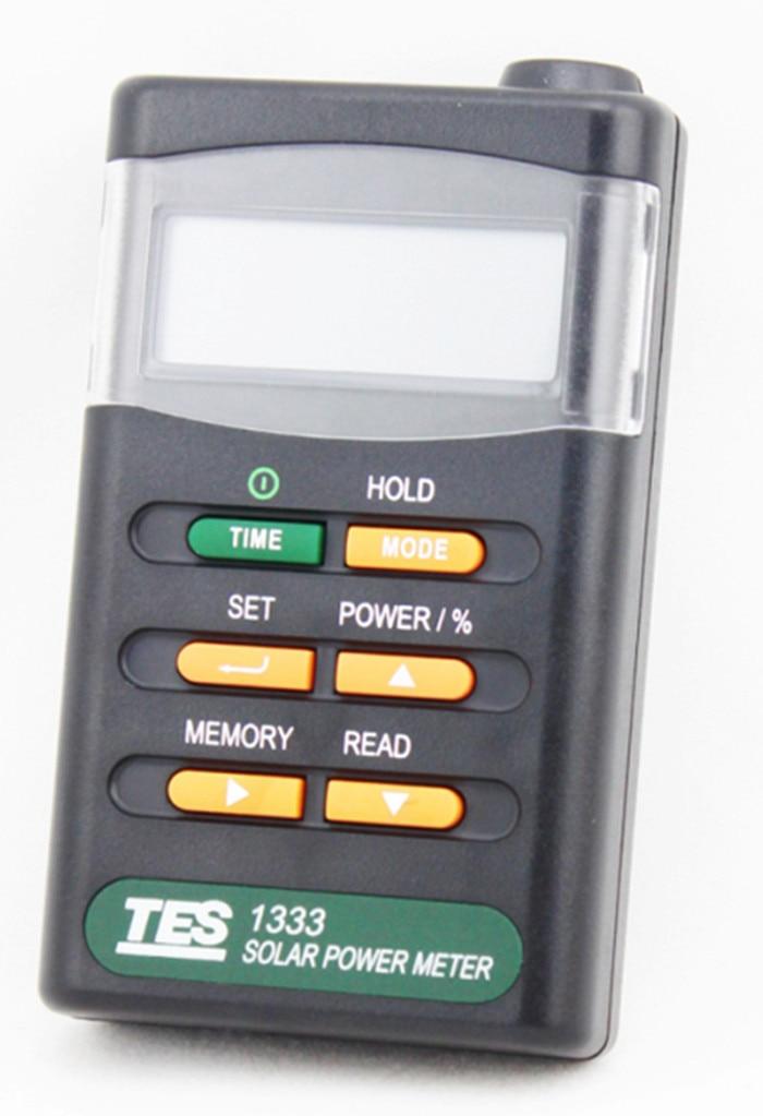 TES-1333 Solar Power Meter Solar Power Meters Digital Radiation Detector Solar Cell Energy Tester solar radiation meter solar power meter sm206 solar power meter power meter