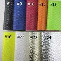 30 cm x 134 cm escamas en relieve de cuero sintético de imitación de cuero PU para zapatos de costura DIY bolsos de mano lazos BH408