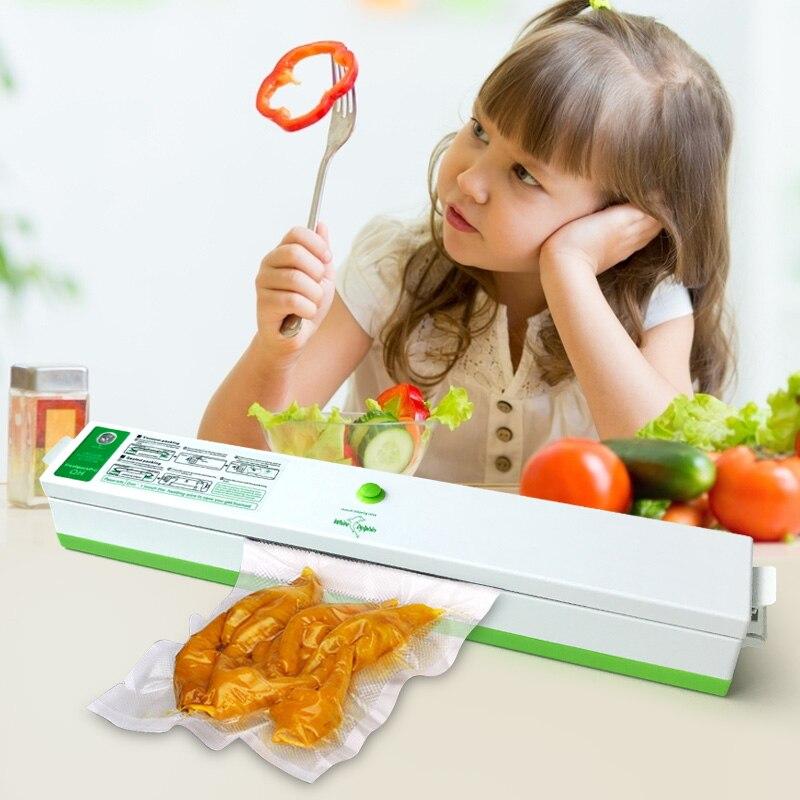 Household Food Vacuum Sealer Packaging Machine for Home Film Sealer Vacuum Packer Including 15Pcs Vacuum Sealer Storage Bagsvacuum sealer packaging machinesealer vacuumfood vacuum -