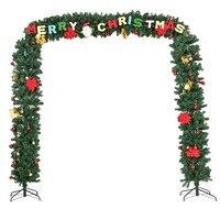 Feliz Navidad puerta decoracion puerta apoyo de arbol de Navidad con LED y Santa Claus vacaciones decorado CM20691
