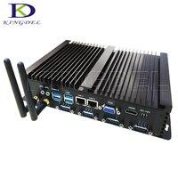 Barebone мини-Промышленные ПК Intel Celeron 1037u i5 3317u Процессор безвентиляторный Мини-ПК мини-компьютер с двумя LAN 4COM 4 * USB3.0 с 300 м Wi-Fi