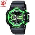 2017 Новый OHSEN Марка Аналоговый Цифровой LED Watch Relógio Masculino Водонепроницаемый Мужские Военные Спортивные Часы Кварцевые Моды Наручные Часы