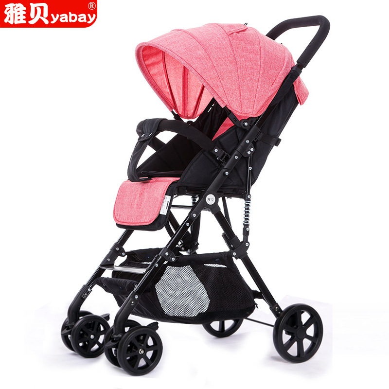 Babyfond Ultra-lightweight baby stroller high landscape can sit lying cart sleep basket extended version of two-way push cart