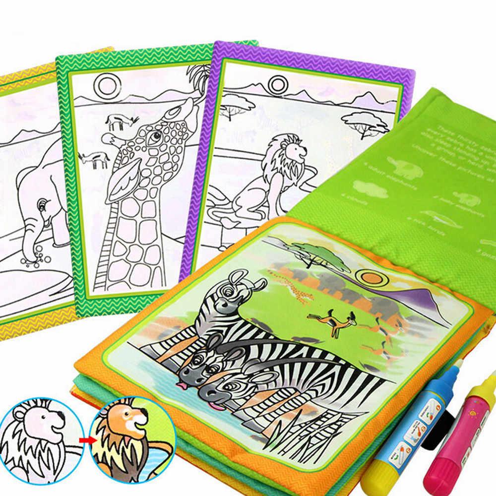HIINST игрушки для рисования унисекс водная книга для рисования coolplay Волшебная водная книга для рисования книжка-раскраска для воды spt19
