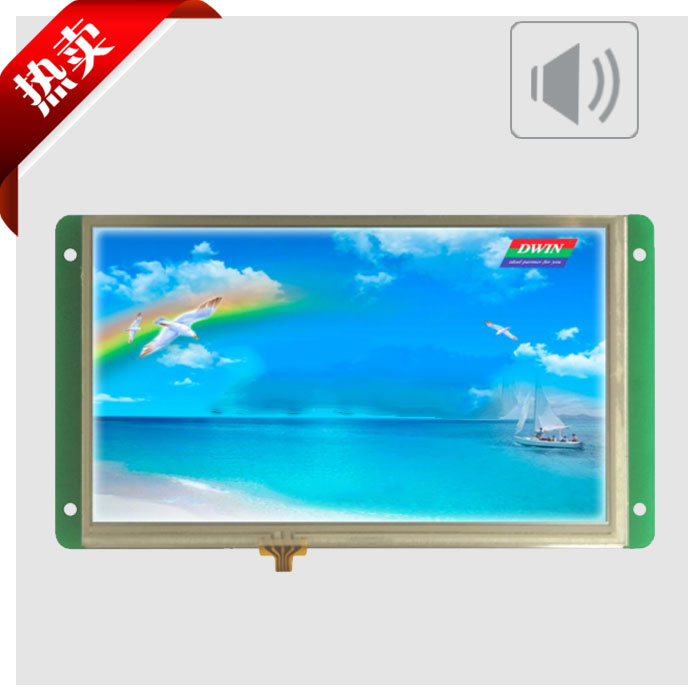 DMT80480T070_03WN DWIN DGUS serial screen 7 inch industrial touch screen voice configuration screen without touch screen