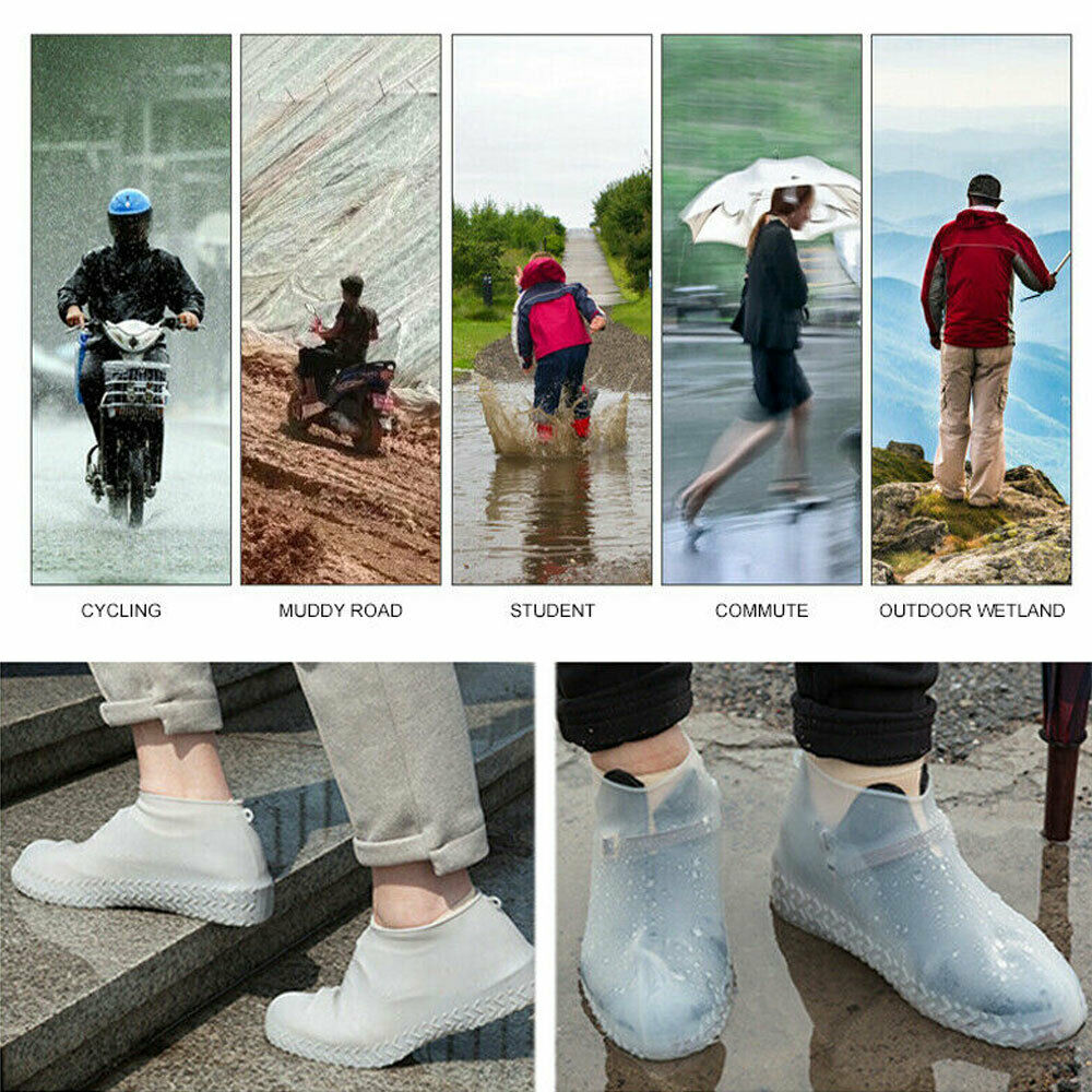 Non Slip Overshoes Rain Waterproof Shoe Covers Boot Cover Protector Recyclable