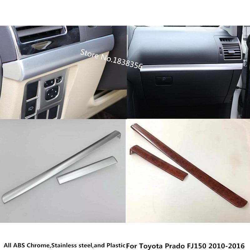 For Toyota Prado FJ150 2010 2011 2012 2013 2014 2015 2016 car inner cover trim console control dashboard panel glove box 2pcs