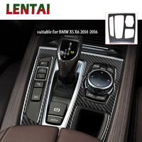 LENTAI 1x Auto Car Styling Carbon Fiber Interior Gear Shift Frame Panel Sticker For Ford Kuga C520 Escape 2017 2018 Accessories