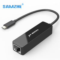 SAMZHE USB3 1 Type C To RJ45 Net Port Converter Adapter HUB Ethernet Adapter Internet Card