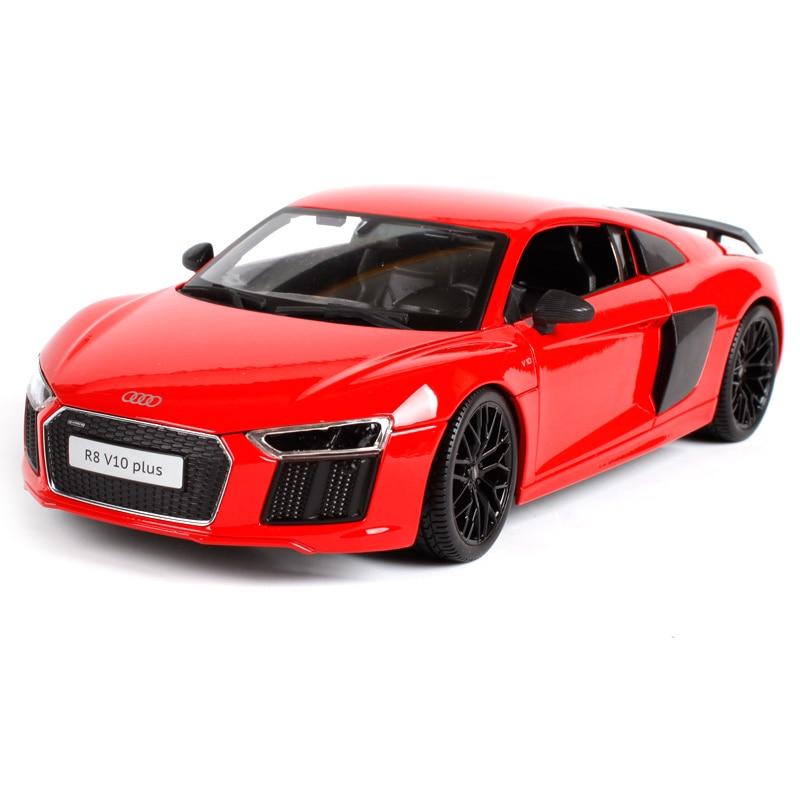 Maisto 1:18 audi r8 v10 plus red blue car diecast 245*115*65 limo motorcar diecast for collecting car models gift for men 36213 ak ak56070 2 ch audi r8 roadster 1 18 r c car toy orange