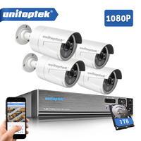 Security Camera System 4Ch AHD CCTV System DVR Kit 4Pcs 1080P 2 0MP Security Bullet Camera
