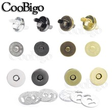 10set Metal 14mm 18mm Magnetic Snap Fasteners Clasps Buttons Handbag Purse Wallet Craft Bags Sewing Leather Parts Accessories cheap Combined Button iron Lace Shank Dry Cleaning Eco-Friendly FLQ081 Plating ROUND Silver Golden Black Nickel Antique Brass