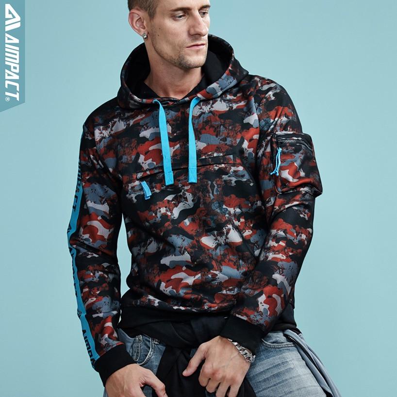 Aimpact Camo Hoodies Sweatshirts for Men Fashion Casual Hooded Pullovers Man Hip Hop Streetwear Brand Clothing Hoody Man AMW4005
