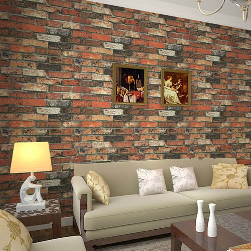 Aliexpress Chinese Style Vintage Red Brick Stone Vinyl Wallpaper Kitchen Living Room Tv Sofa Backdrop Wall Covering Papel De Parede Sala From
