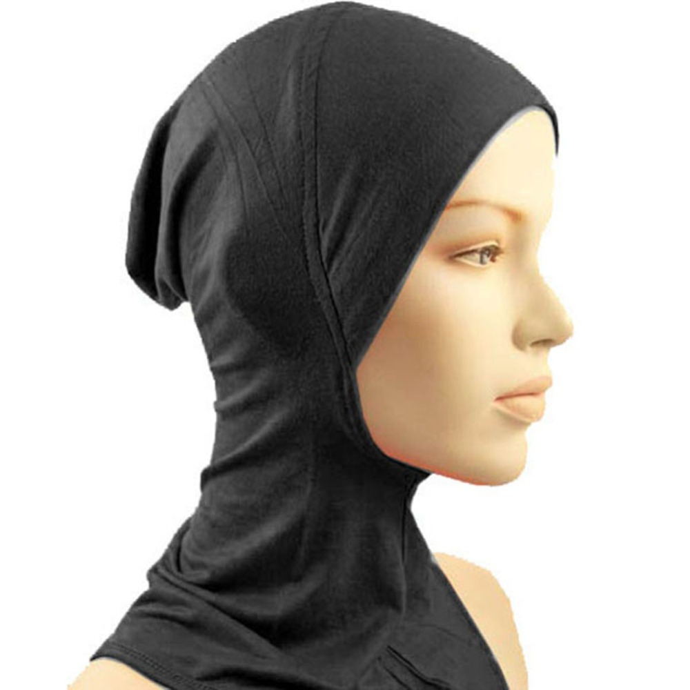 Women Hijab Scarf Hat Cap Bone Bonnet Ninja Inner Turban Hijabs  Muslim Islamic Wrap Headscarf Neck Full Cover Scarf 14 Colors
