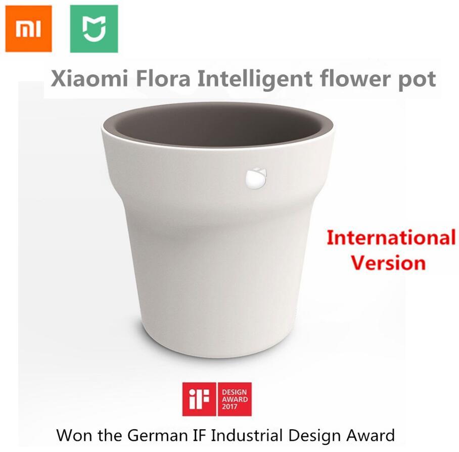 2018 Xiao mi mi flora intelligente Vaso Di Fiori versione Internazionale piante Erba Monitor Bluetooth Remote Control Di Acqua del Suolo Sensore Sole