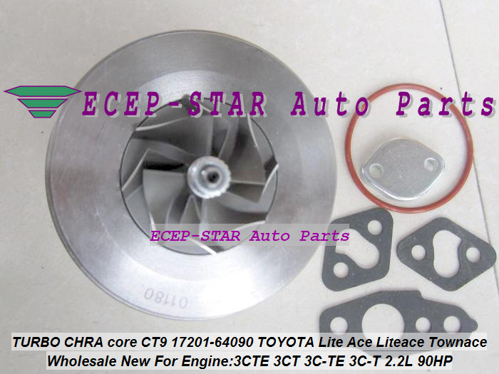 Turbo CHRA Cartridge Core CT9 17201-64090 Turbine For <font><b>TOYOTA</b></font> HIACE HILUX Lite Ace LiteAce Town Ace TOWNACE 1993-96 <font><b>3CT</b></font> 3C-T 2.2L image