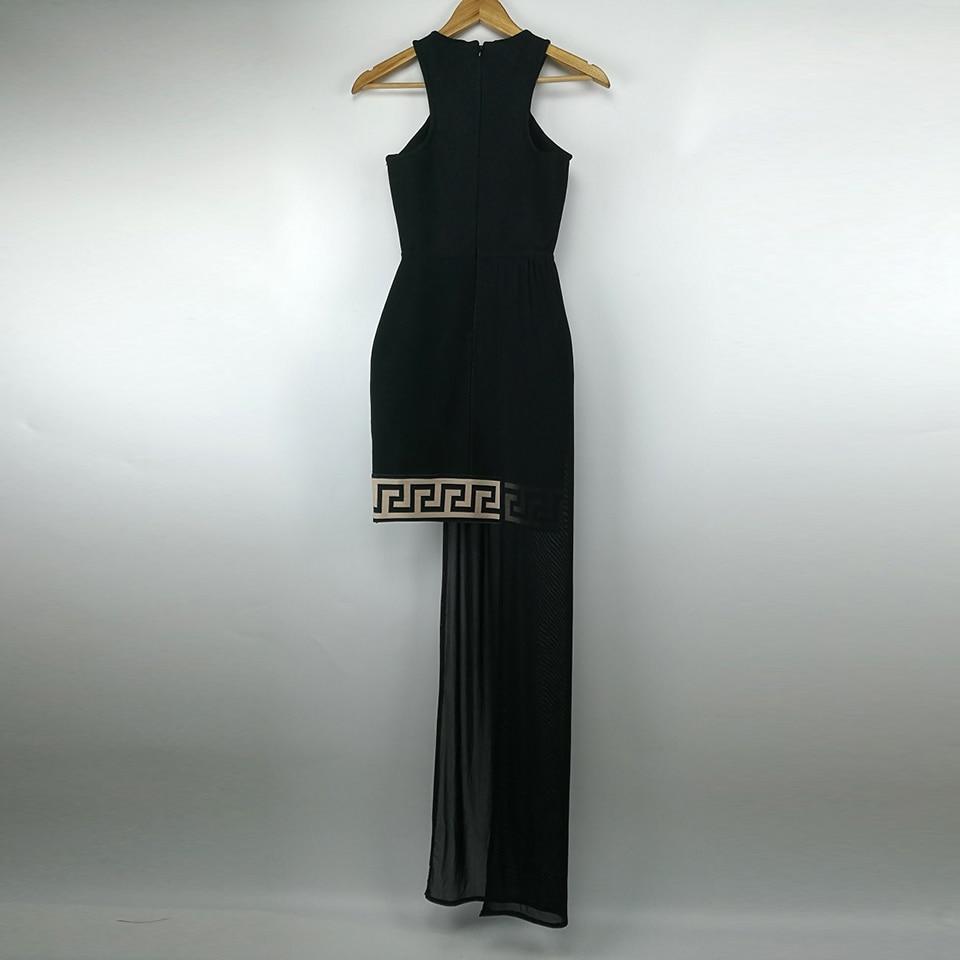 De Maxi Asymétrique Dames Longue Black Femmes Robes Femme Sexy Manches Sans Verano Soirée Robe D'été Partie qw1nBqpf