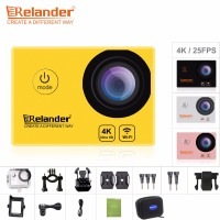 Original 5Pcs Crelander R8 Action Camera 4K 170D HD Waterproof Go Extreme Pro Sport Cam DVR