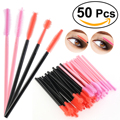 50pcs Disposable Silicone Eyelash Mascara Wands Brush Set Cosmetic Applicators Eyelash Comb Brushes Spooler Makeup Tool