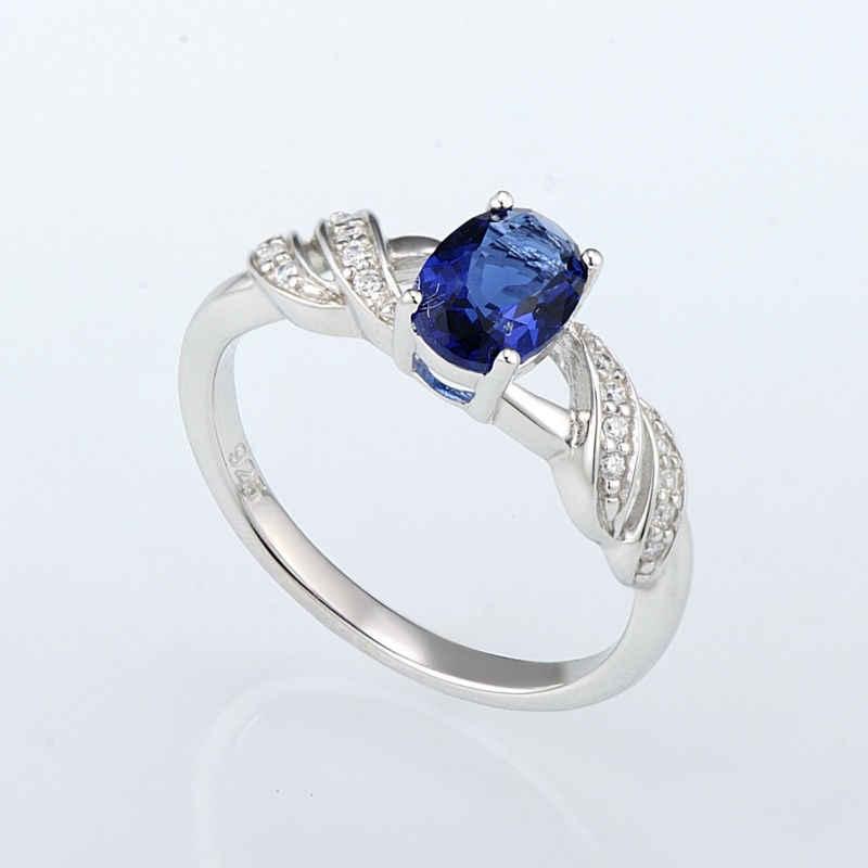 SANTUZZA แหวนเงิน 925 เงินสเตอร์ลิงแฟชั่นรอบสำหรับผู้หญิงแหวน Cubic Zirconia Ringen เครื่องประดับ