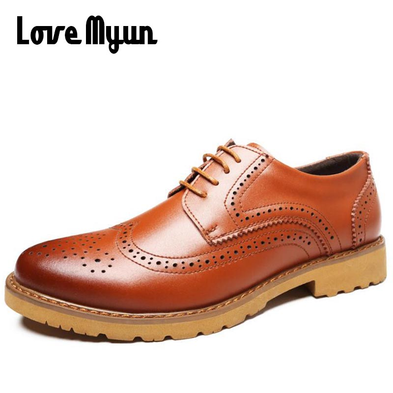 5 colors Mens Bullock carved shoes men's dress fashion shoes for gentleman Business Oxfords lace up flat 38-44 AA-13