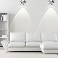 מודרני Led קריסטל מנורת קיר אלומיניום אור בחדר שינה ליד המיטה 1W3W פמוט הוביל אור ספוט תאורת רקע ספה בסלון