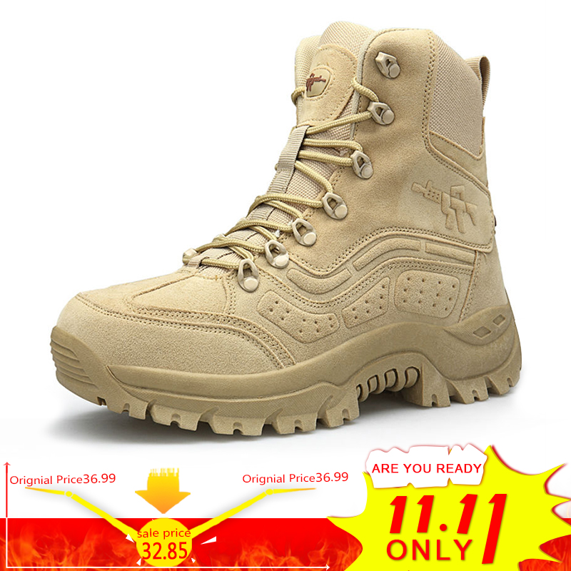 BIMUDUIYU Winter Autumn Men Military Boots Quality Special Force Tactical Desert Combat Ankle Boats Army Work Shoes Snow Boots homass winter autumn men military boots quality special force tactical combat ankle boats army work shoes flock safety boots