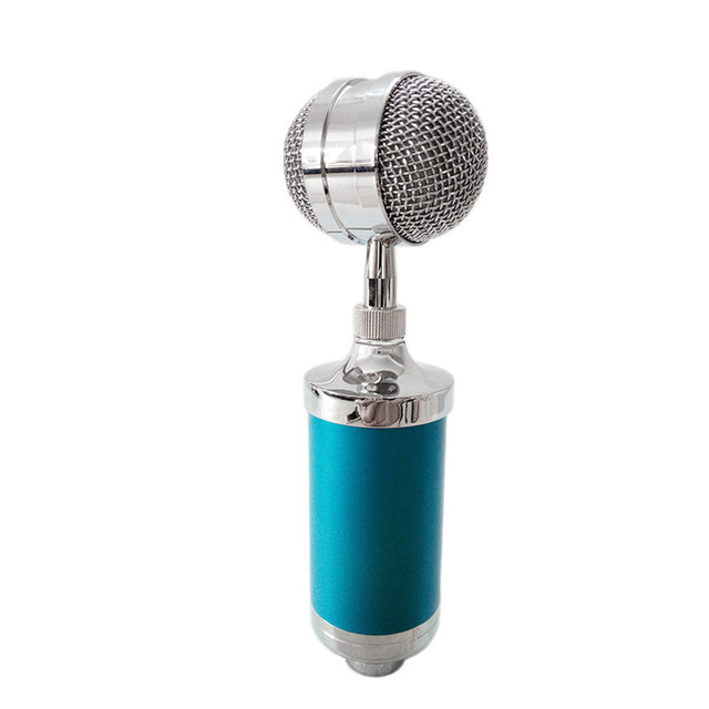 3.5MM Audio Plug Mic Sound Studio for Recording Capacitive  Wired Recording Microphone with Wind Screen Pop Filter
