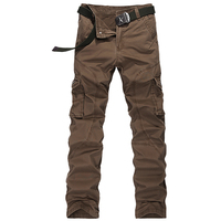 High Quality Casual Cargo Pants For Men Long Trousers Pockets Overall Millitary Style Work Trousers For