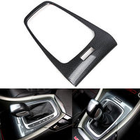 ABS Carbon Fiber Colors Car Interior Mouldings Gear Shift Panel Cover Trim For Ford Fusion Mondeo