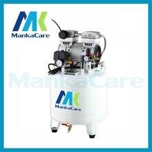 750W Dental Air compressor 40 Liters Tank Oil Free Rust-proof chamber/Tank/Silent/Mute/Flush air pump/ Dental Medical Clinic use
