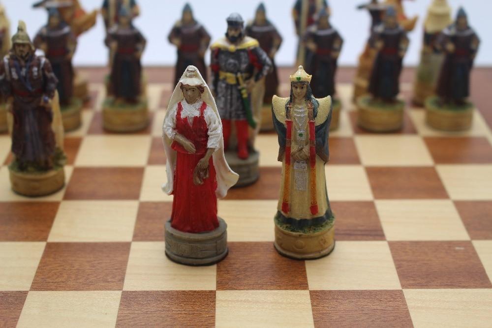 Schachfiguren K/önig Gr/ö/ße 95mm 2 Extra Damen 34 Schachfiguren Farbe schwarz und wei/ß Schachspieler-Turnier Schulen Akademie Events /Öffnet Kunst IDOPUZ