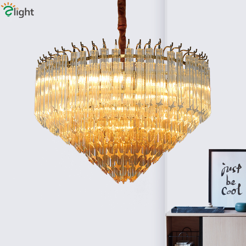 Modern Luxury Gradiant Amber / Gray Glass Led Pendant Lights Round Metal Led Hanging Lamp Lustre Luminarias Lamparas Fixtures