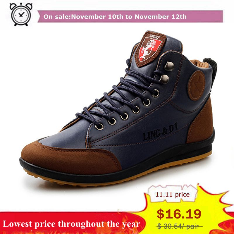 YWEEN Men Autumn Waterproof Leather Shoes New Men