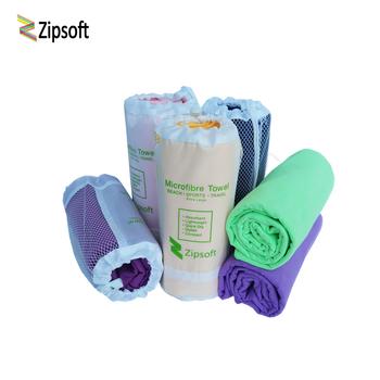 Zipsoft Ultralight kompaktowy szybkoschnący ręcznik z mikrofibry plaża pływanie Camping piesze wycieczki ręcznik na twarz zestawy podróżne na zewnątrz 2020 tanie i dobre opinie SPORT Zwykły Tkane ROLL 270g S M L XL Quick-dry Sprężone 26 s-30 s Stałe Tkanina z mikrofibry Gładkie barwione ultra absorbent