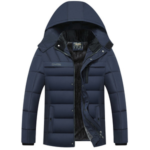 Image 2 - Dropshipping 2020 Hot Fashion Hooded Winter Jas Mannen Dikke Warme Heren Winter Jas Winddicht Vader Gift Parka