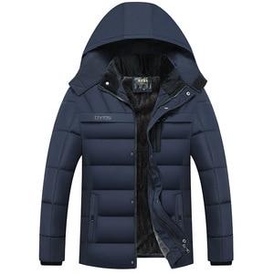 Image 2 - Dropshipping 2020 חמה אופנה סלעית חורף מעיל גברים עבה חם Mens חורף מעיל Windproof אב מתנה Parka