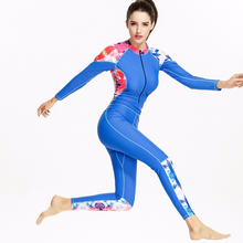 6f5bcda266 Professional Women Diving Wetsuit Long Sleeve Scuba Swimsuit Sport Full  Body Swimwear Snorkeling Suit Ladies Surfing