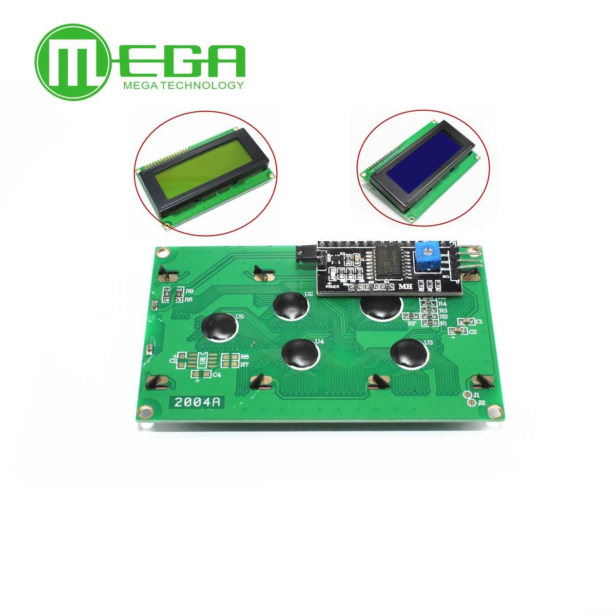 1 pièces LCD2004 + I2C 2004 20x4 2004A écran bleu HD44780 pour arduino caractère LCD/w IIC/I2C Module adaptateur d'interface série