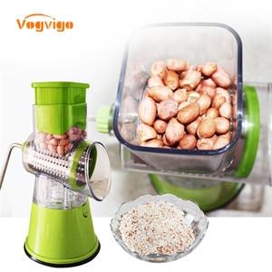 Image 2 - VOGVIGO Manuelle Gemüse Cutter Slicer Küche Zubehör Multifunktions Runde Mandoline Slicer Kartoffel Käse Küche Gadgets