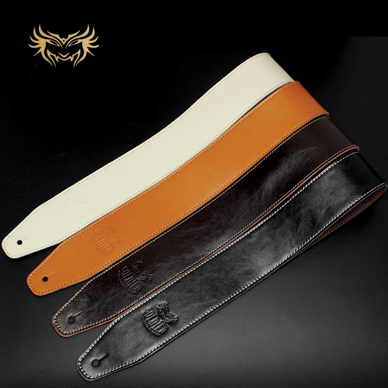 Free Shipping Split Leather Bass Strap Cowhide Non-slip Solid Guitar Strap Electric Guitar Strap Electric Bass Guitar Strap Belt