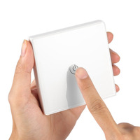 Saful Wireless Remote Control Switch Light Wall Light Touch Switch Glass Panel LED Indicator Smart Home