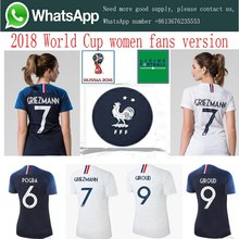 2018 Frenches 2 stars Women AAA quality MBAPPE GRIEZMANN Ms Soccer Jerseys  18 19 Home away football Women Free shipping c3495f268a