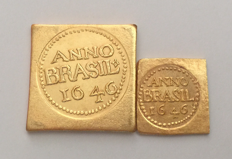 1646 Brazil 3 Florins and 12 Florins 2 coins COPY FREE SHIPPING